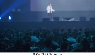 conférencier, écoute, atelier, audience