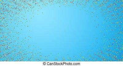conf, coloridos, celebração, stars., confetti., festivo