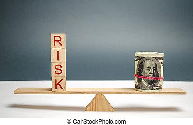 confection, balances., propriété, concept, risque, insurance., business, project., marché, risques, investir, decision., financier, droit, légal, dollars, inscription