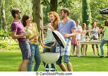 confection, barbecue, ensemble