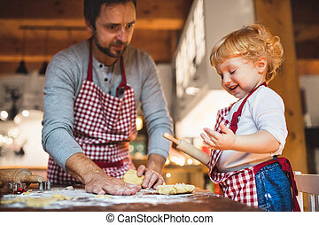 confection, biscuits, home., jeune famille