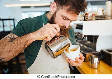 confection, cappuccino, barista