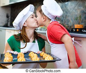confection, fils, mère, pain