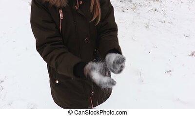 confection, girl, boule de neige