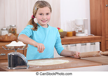 confection, girl, patisserie