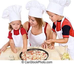 confection, gosses, pizza