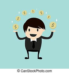 confection, homme, business, argent