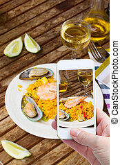 confection, paella, photo