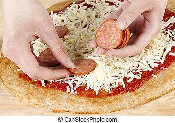 confection, pizza
