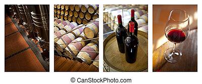 confection, seconde, étape, vin