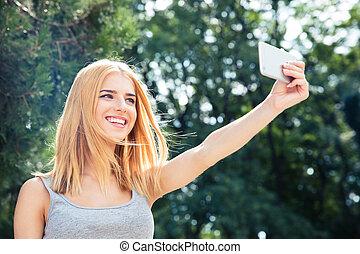 confection, selfie, femme, photo