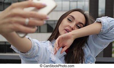 confection, selfie, girl, toit