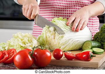 confection, végétarien, salade