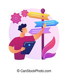 confection, vecteur, illustration., concept, résumé, décision