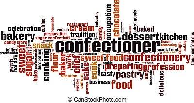 confectioner, palavra, nuvem