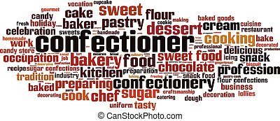 Confectioner word cloud - horizontal