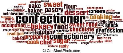 Confectioner word cloud - horizontal