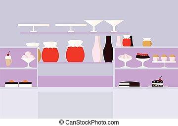confectionery cartoon vector illustration