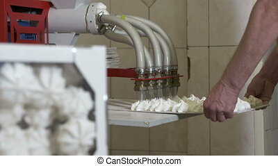 Confectionery factory production process and finished...