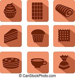 confectionery icon set