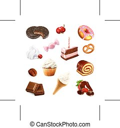 Confectionery illustration icons
