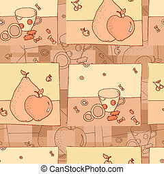 Confectionery seamless background