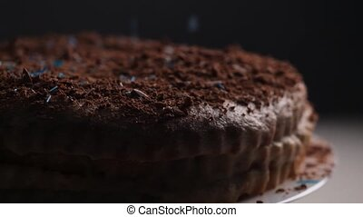 Confectionery topping on cake - Confectionery topping on ...