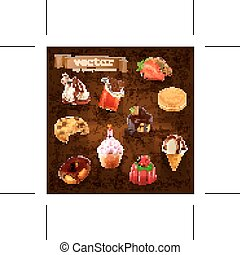 Confectionery vector icons
