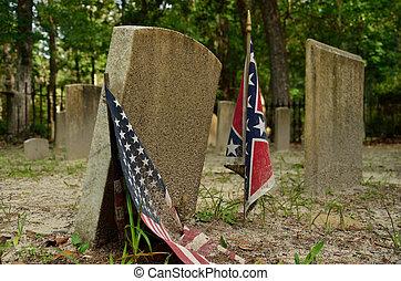 Confederate cemetery - The Sunbury Cemetery in Georgia...