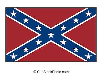 Confederate Flag - A Confederate flag isolated on a white ...
