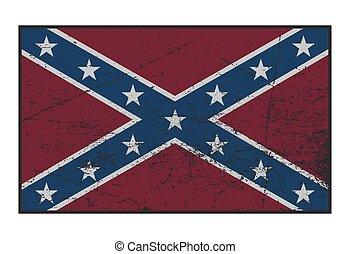 Confederate Flag Grunged - A grunged Confederate flag ...