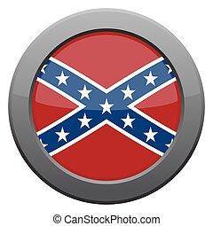 Confederate Flag Icon - A Confederate flag icon isolated on ...