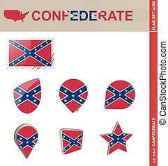 Confederate Flag Set, Flag Set #290