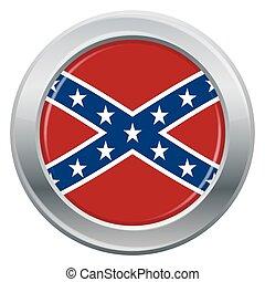 Confederate Flag Silver Icon - A Confederate flag silver ...