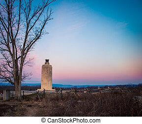 Confederate memorial in Gettysburg