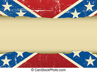 Confederate scratched flag - A confederate flag with a large...