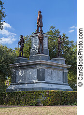 Confederate Soldiers Monument at Texas State Capitol grounds in Austin,  TX