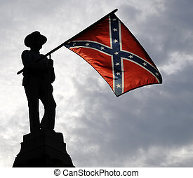 Confederate memorial in Confederate Cemetary Fredericksburg, Virginia.