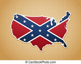 Confederate USA Map