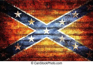 Confederate wooden flag