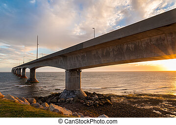 Confederation Bridge at sunset