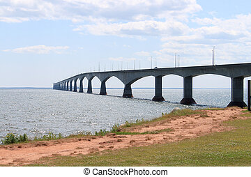 Confederation Bridge from Borden-Carleton, Prince Edward...