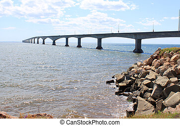 Confederation Bridge from Borden-Carleton, Prince Edward...