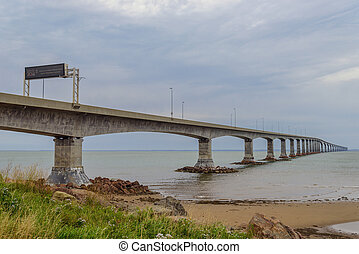Confederation Bridge linking Prince Edward Island with mainland