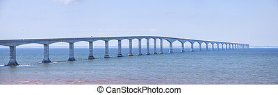 Confederation Bridge panorama - Panoramic view of ...