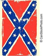 confederation flag - detailed illustration of a patriotic ...