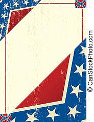 Confederatre grunge letter
