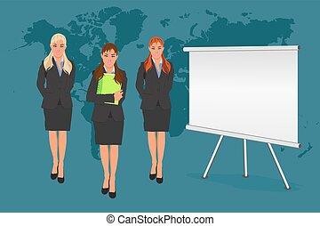 conferência, conceito, negócio, vetorial