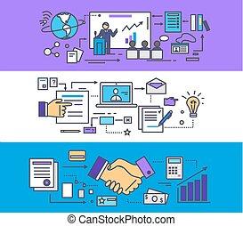 conferência, consultar, conceito negócio