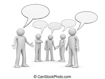 conferência, /, conversa